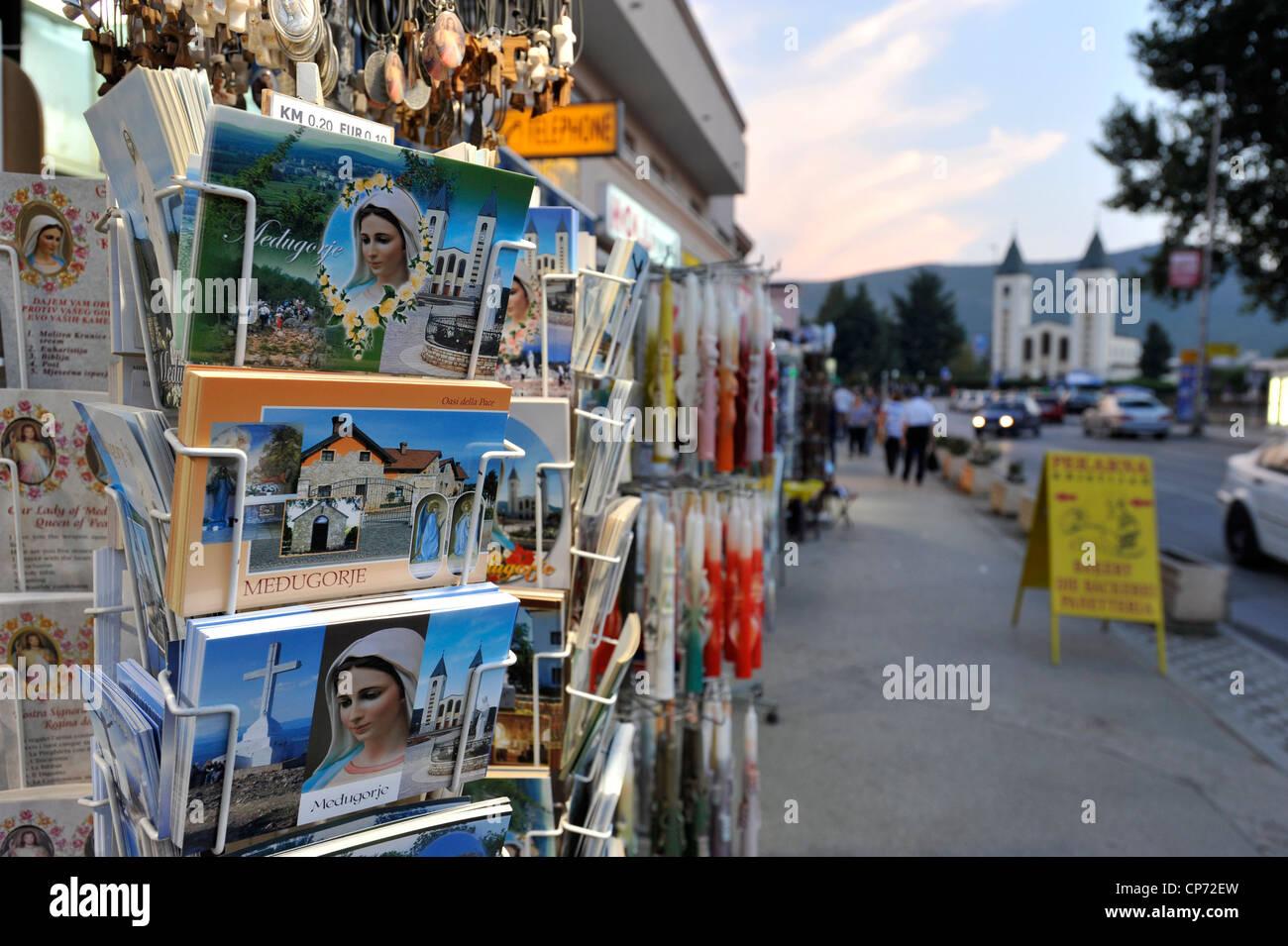 Europe Bosnia and Erzegovina Medjugorje religious articles - Stock Image