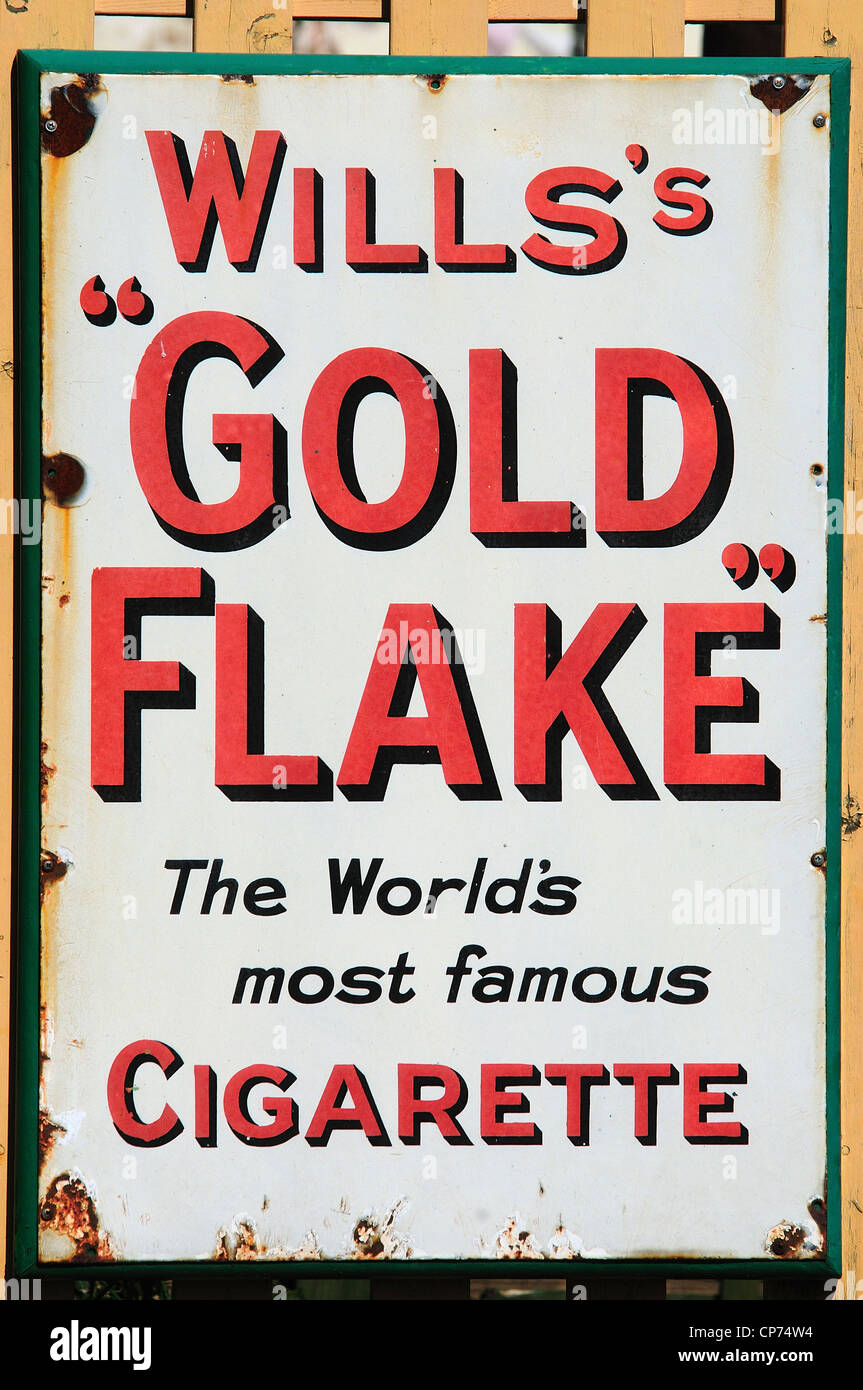 An old poster advertising Will's Gold Flake tobacco UK ...
