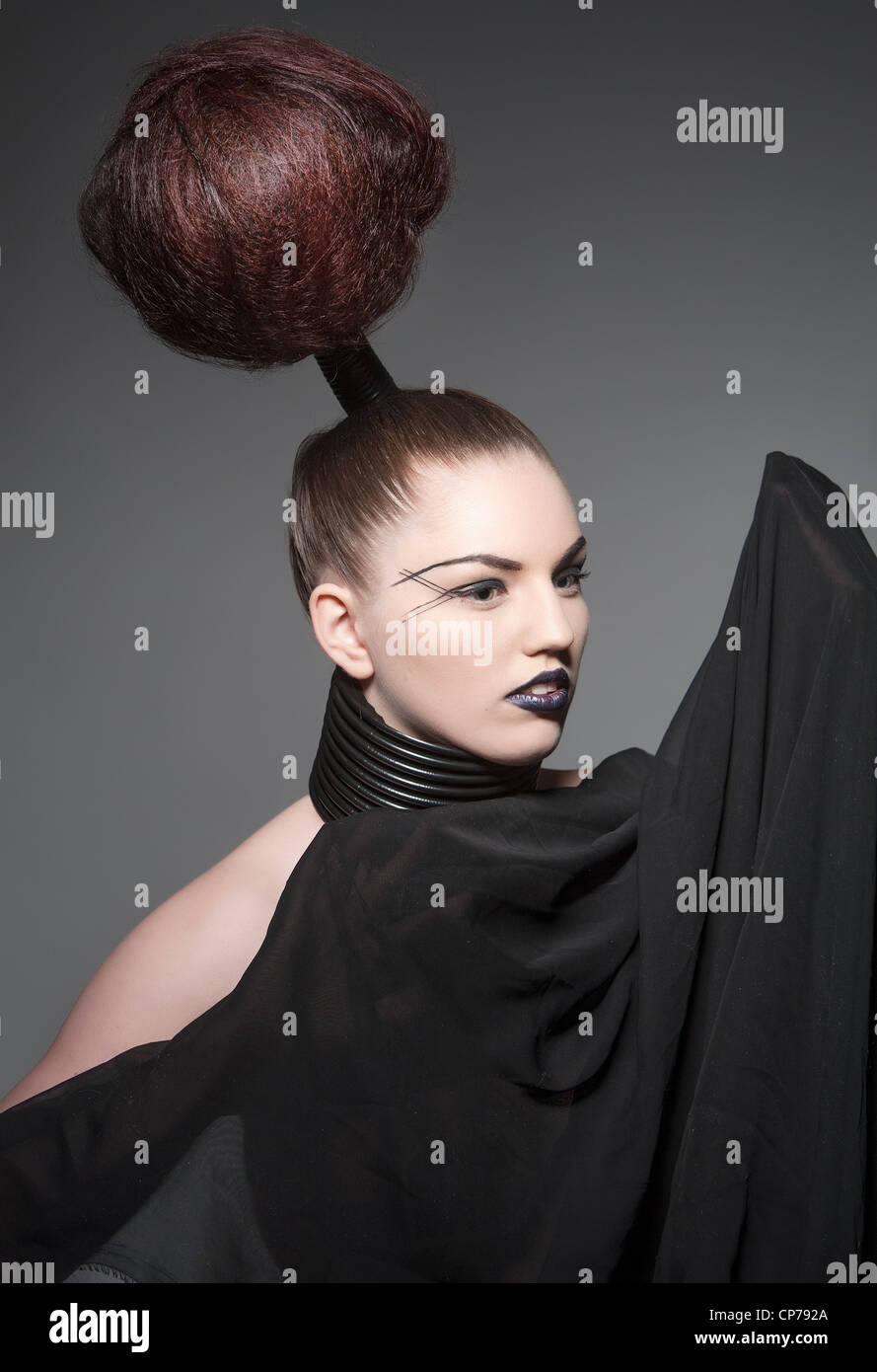 a crazy avant garde hairstyle Stock Photo: 48103954 - Alamy