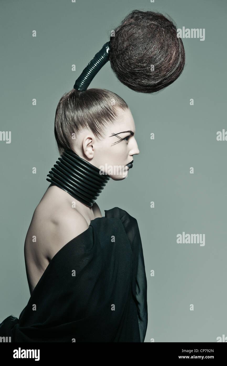 a crazy avant garde hairstyle Stock Photo: 48103965 - Alamy