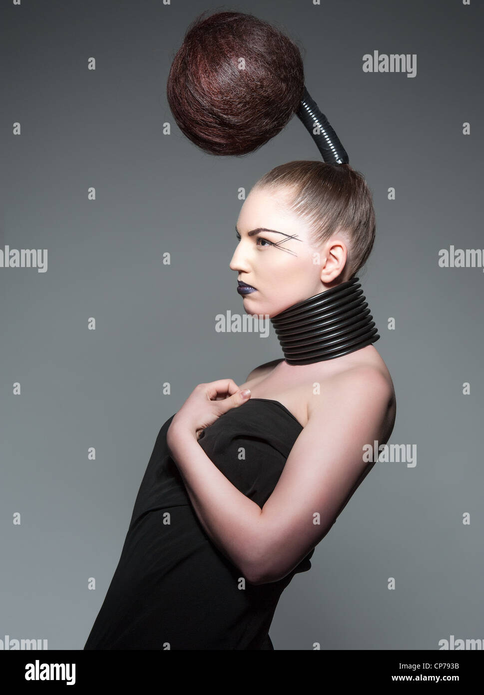 a crazy avant garde hairstyle Stock Photo: 48103983 - Alamy