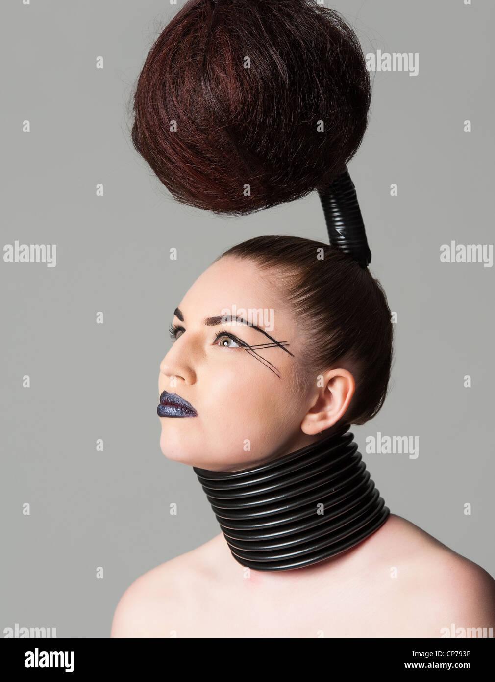 a crazy avant garde hairstyle Stock Photo: 48103994 - Alamy