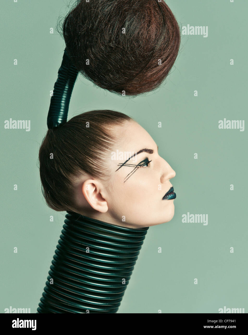 a crazy avant garde hairstyle Stock Photo: 48104001 - Alamy
