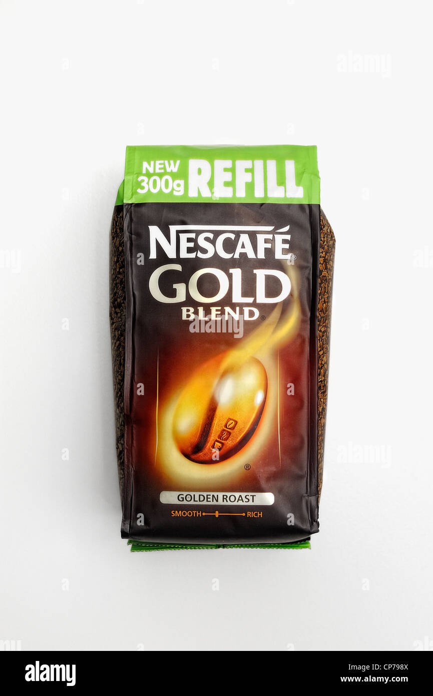 nescafe gold blend 300g refill pack - Stock Image