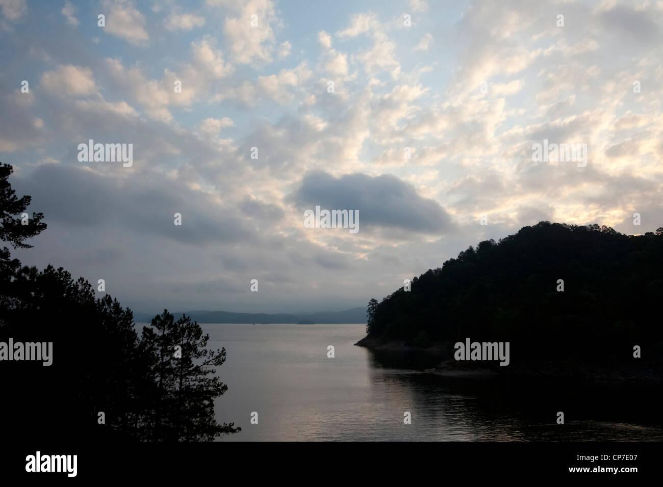 Sunrise at Broken Bow Lake – Southeastern Oklahoma - Stock Image