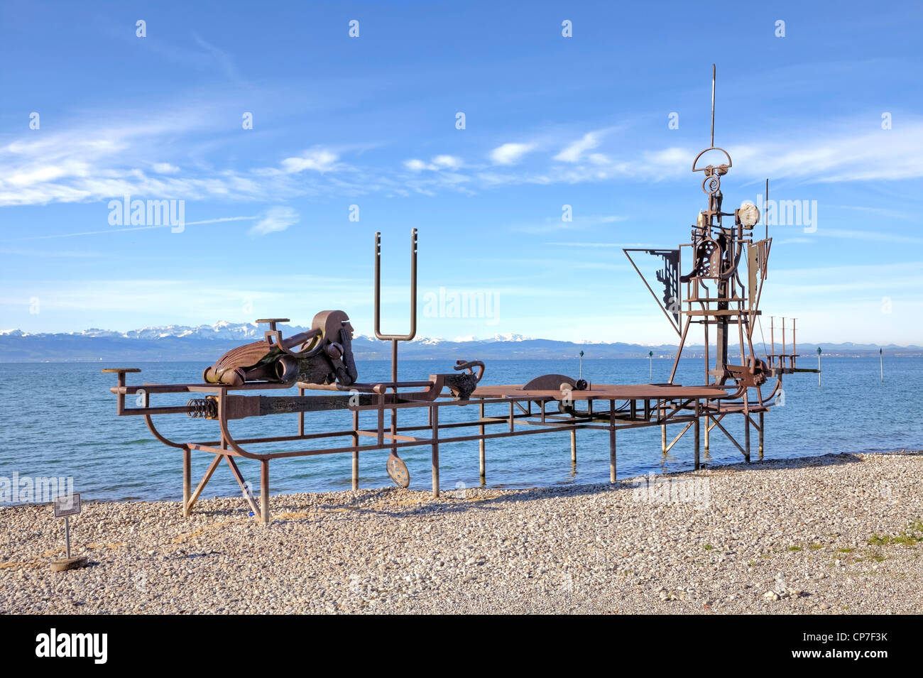 Sound ship, at the moment, Friedrichshafen, Lake Constance, Baden-Wurttemberg, Lake Constance, Germany - Stock Image