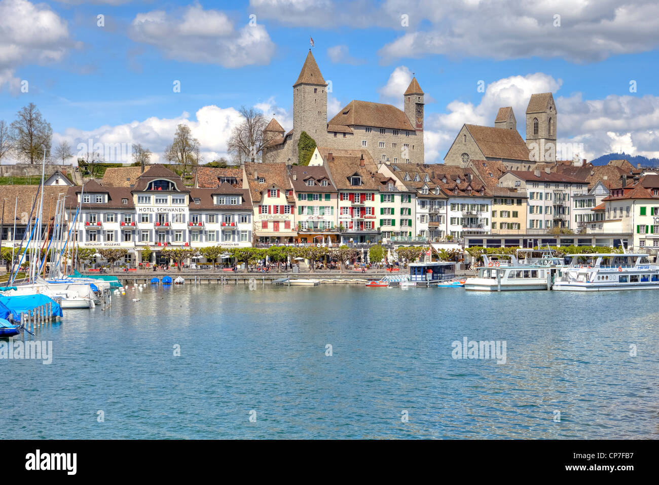 Castle of Rapperswil, Rapperswil-Jona, St. Gallen, Switzerland - Stock Image