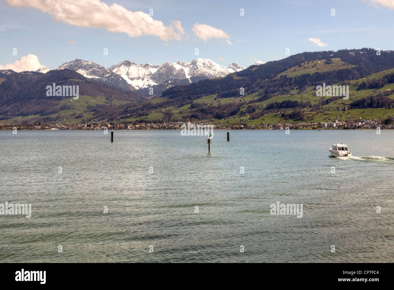 Upper Lake, Lake Zurich, Rapperswil, St. Gallen, Switzerland - Stock Image