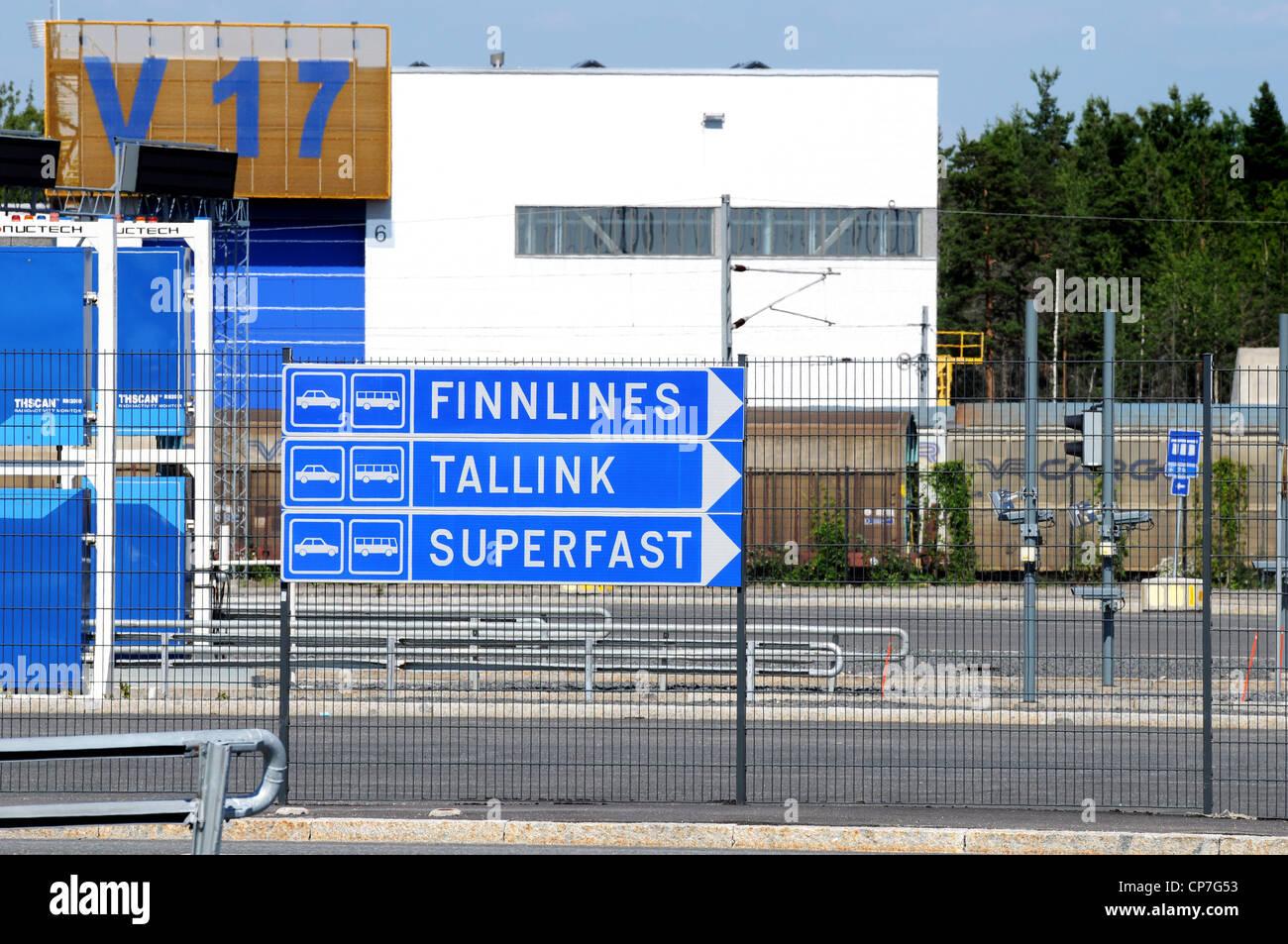 Vuosaari harbour near Helsinki - Stock Image