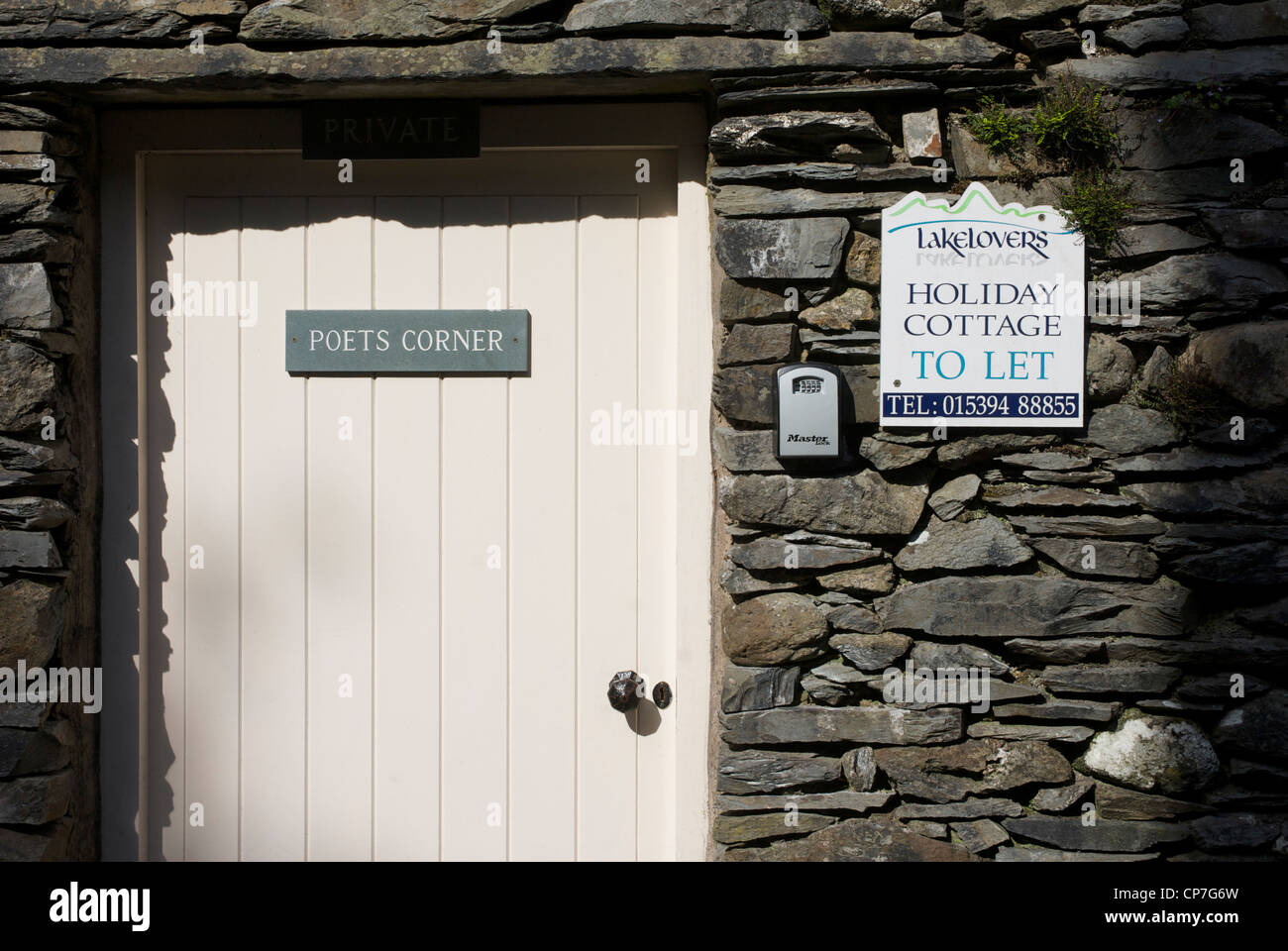 Poets Corner, a holiday cottage to let in Grasmere, Lake District National Park, Cumbria, England UK - Stock Image