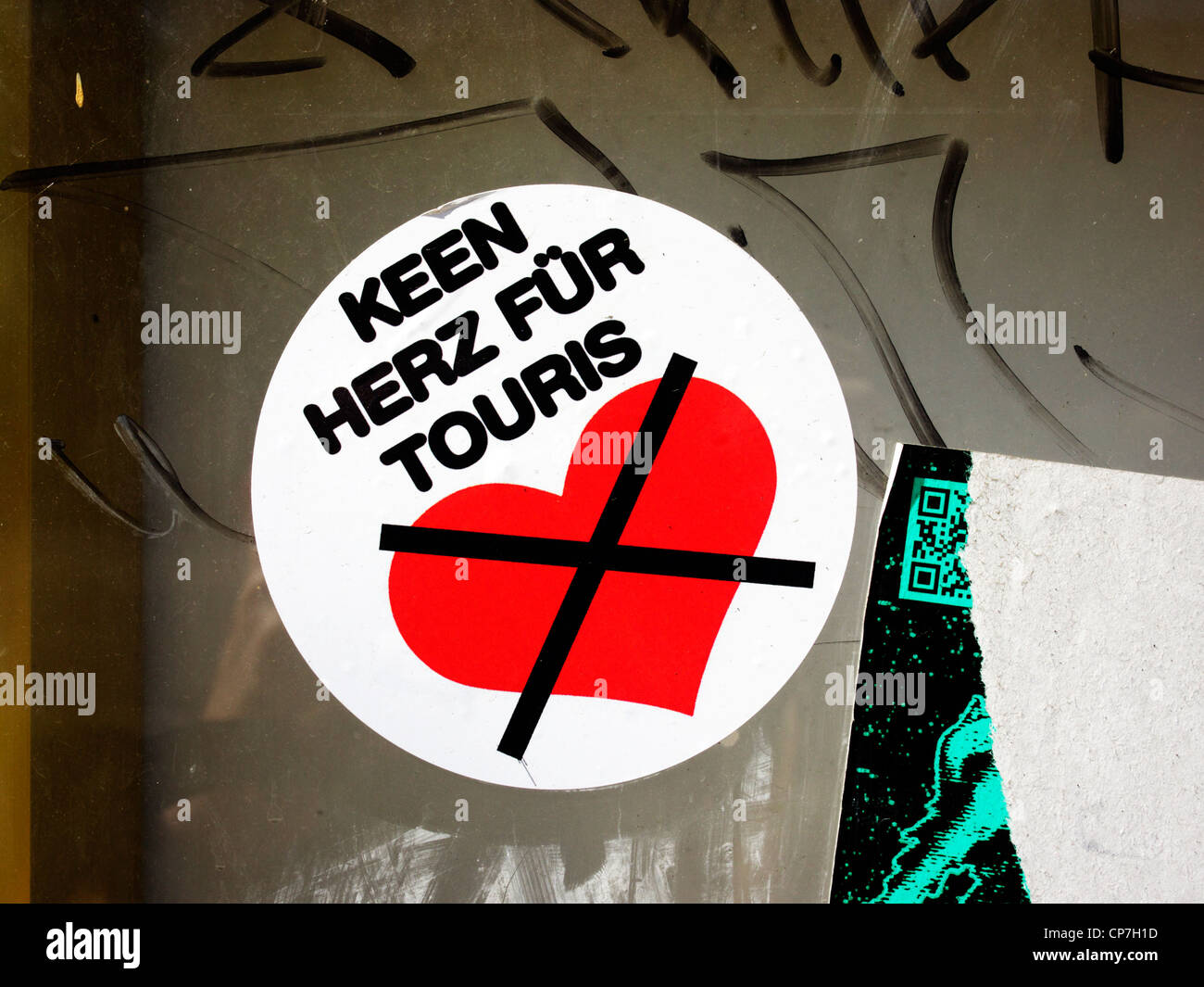 Sticker Saying No Heart For Tourists Berlin Germany
