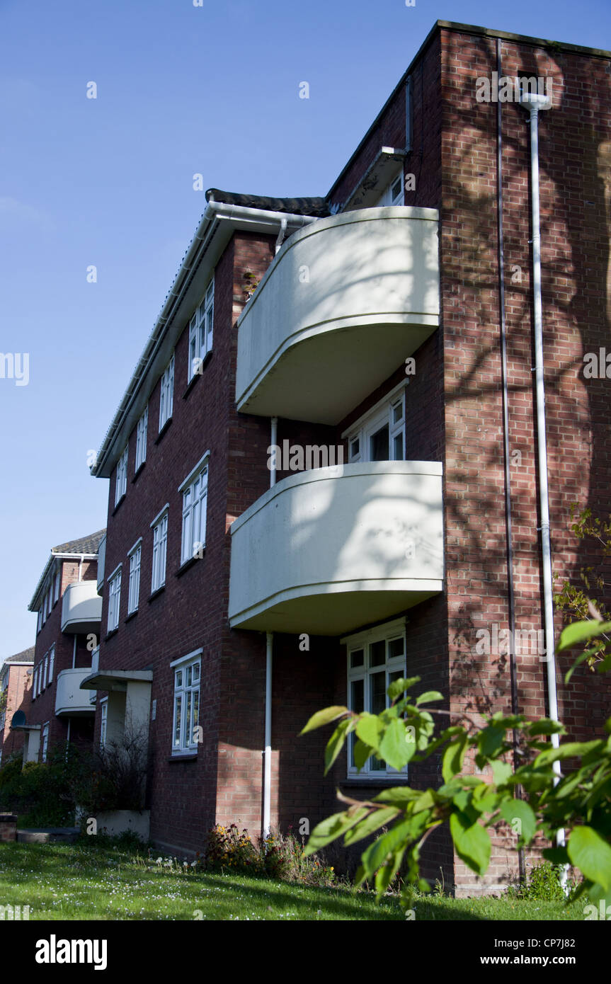 Norwich local authority council housing flats - Stock Image