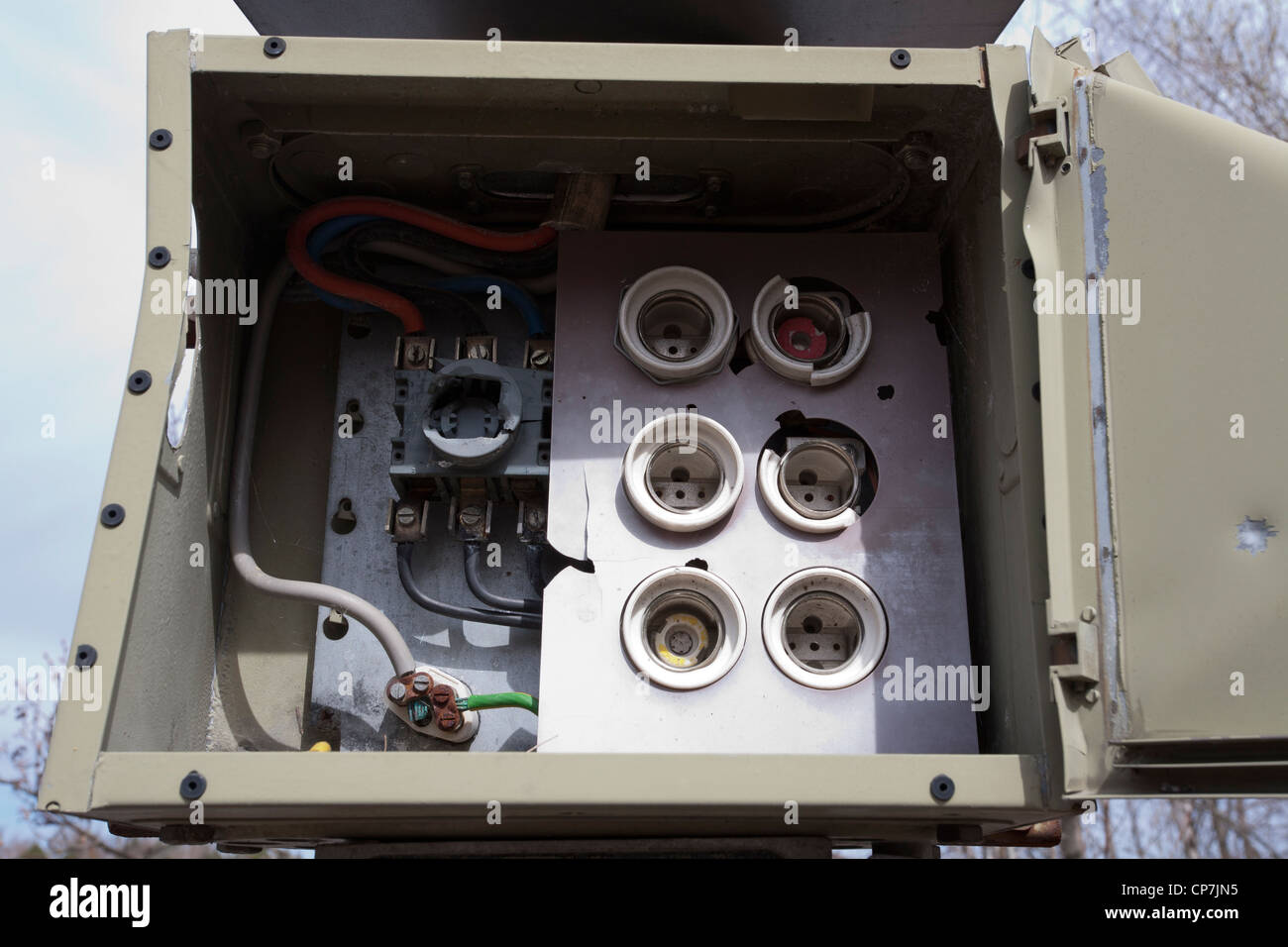old empty fuse box Stock Photo: 48111537 - Alamy on residential smoke detectors, residential heaters, residential cabling, residential circuit breakers, residential wiring,