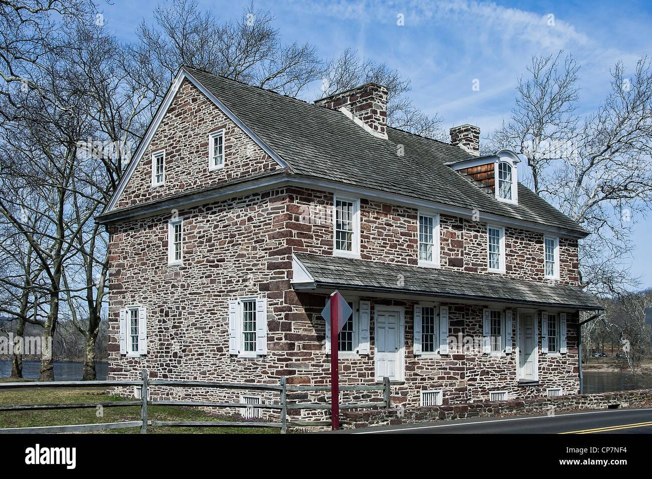 McConkey's Ferry Inn, Washington Crossing Park, PA, Pennsylvania, USA - Stock Image