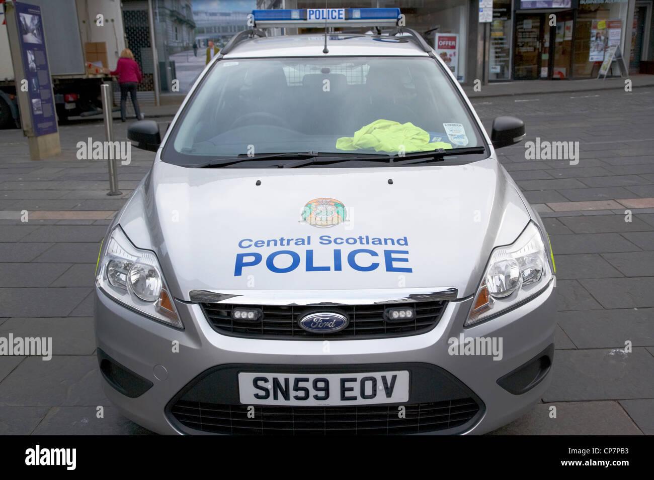 central scotland police force patrol car stirling Scotland UK - Stock Image