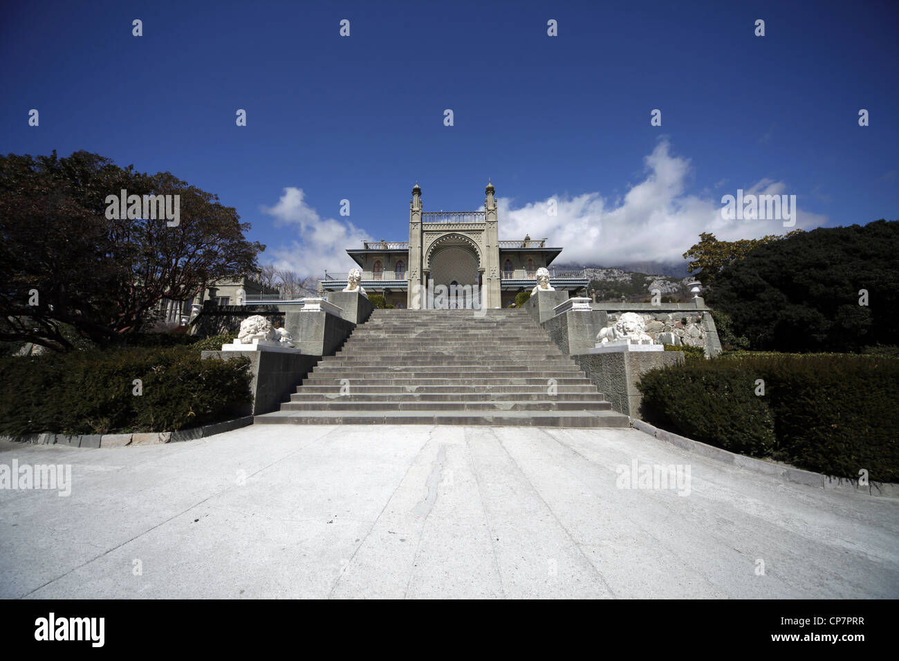 VORONTSOV PALACE ALUPKA CRIMEA UKRAINE 03 April 2012 - Stock Image