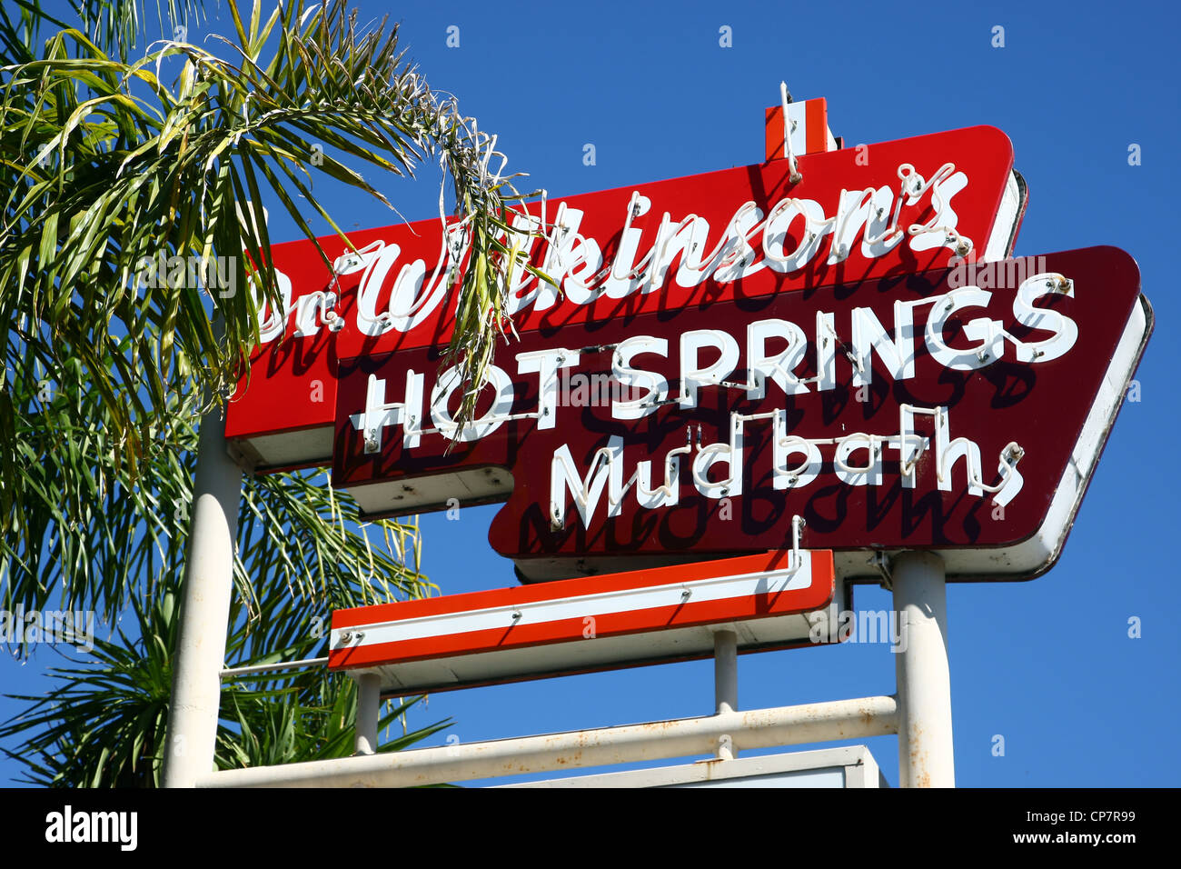 DR. WILKINSONS HOT SPRINGS HOTEL NEON SIGN 06 October 2011 - Stock Image