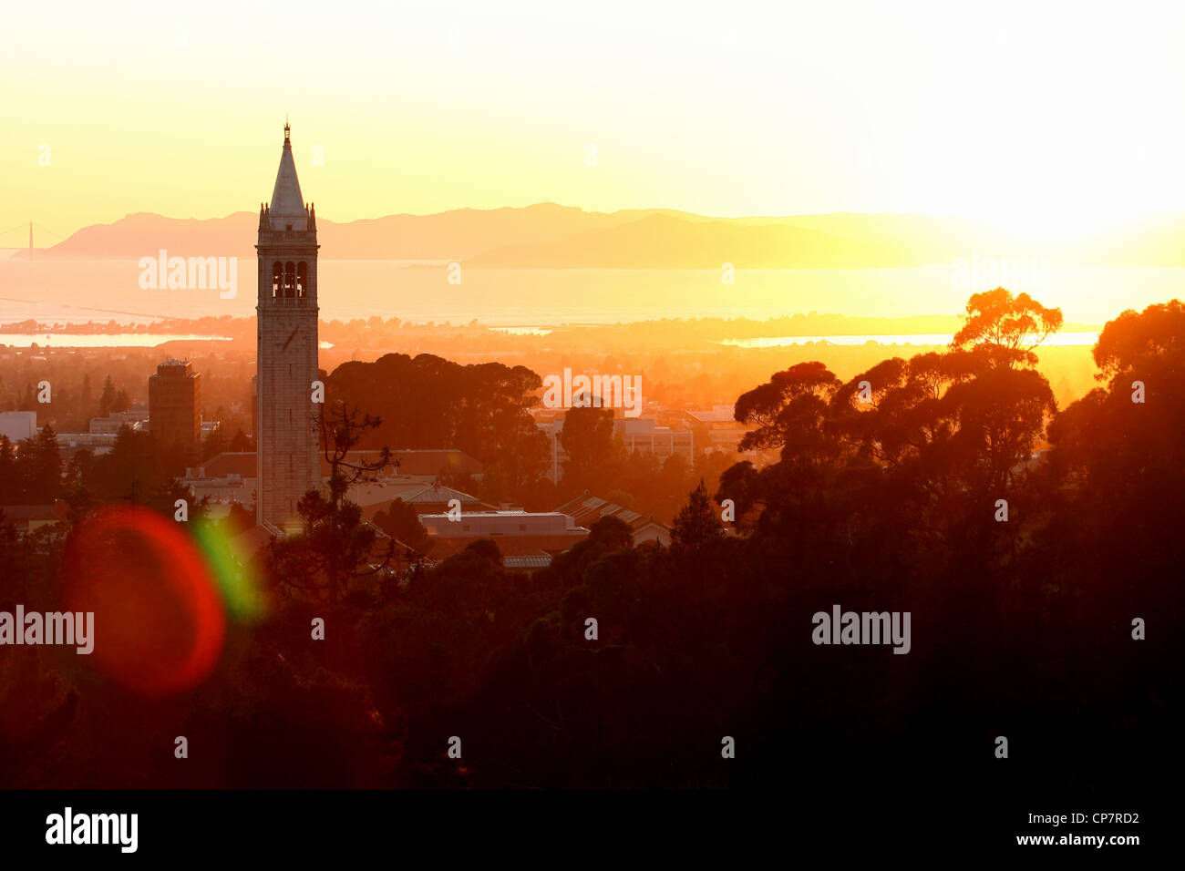 SATHER TOWER & BERKELEY BERKELEY CALIFORNIA USA 06 October 2011 - Stock Image