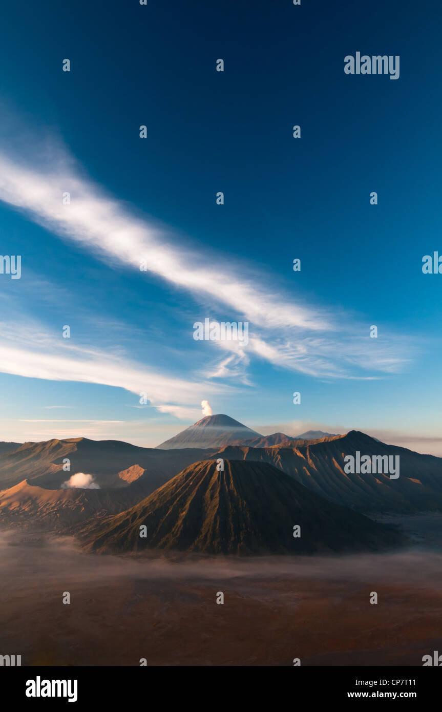 Gunung Bromo Volcano on Java Island in Indonesia - Stock Image