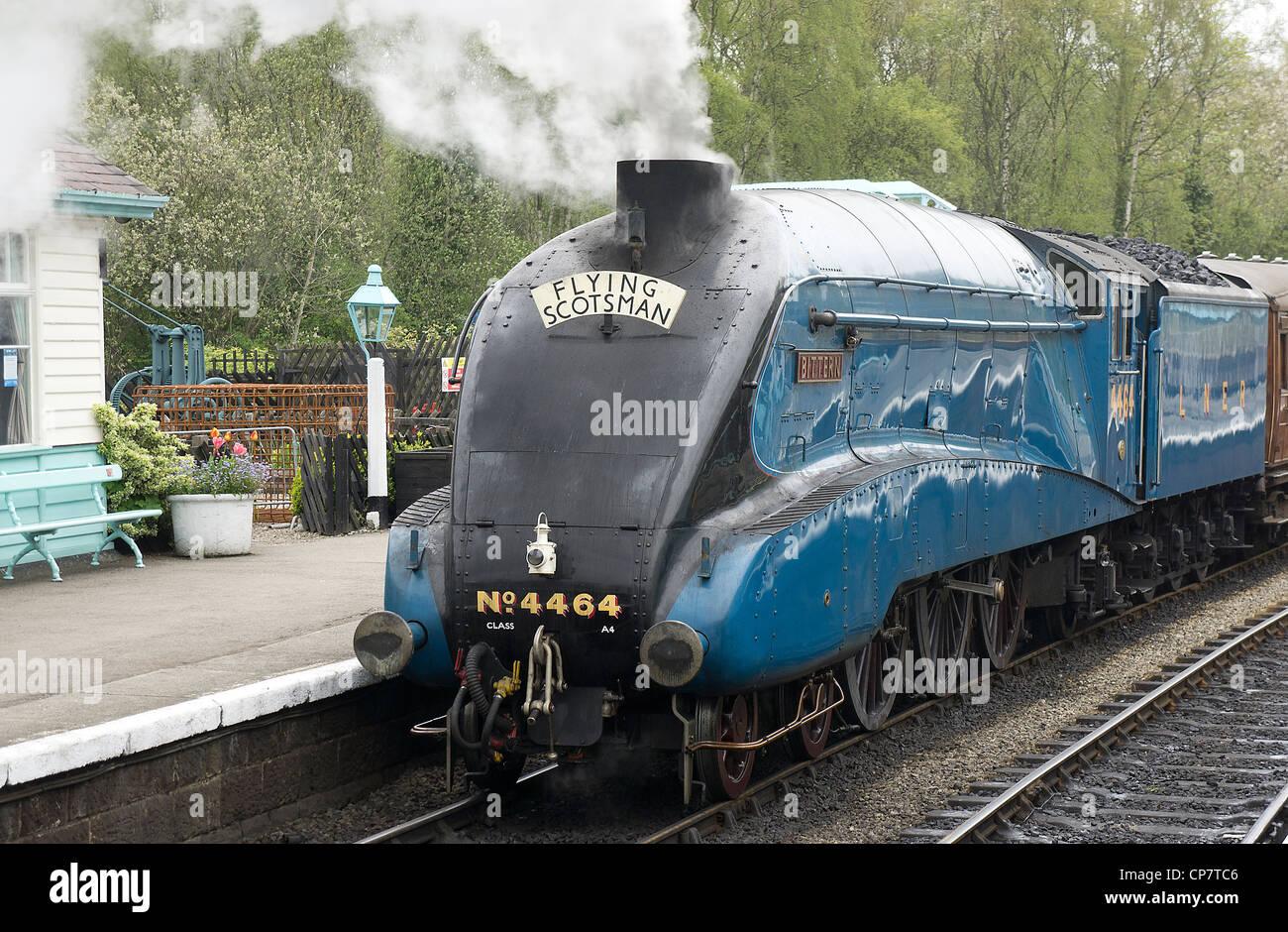 Bittern in Garter Blue at Grosmont Station - Stock Image