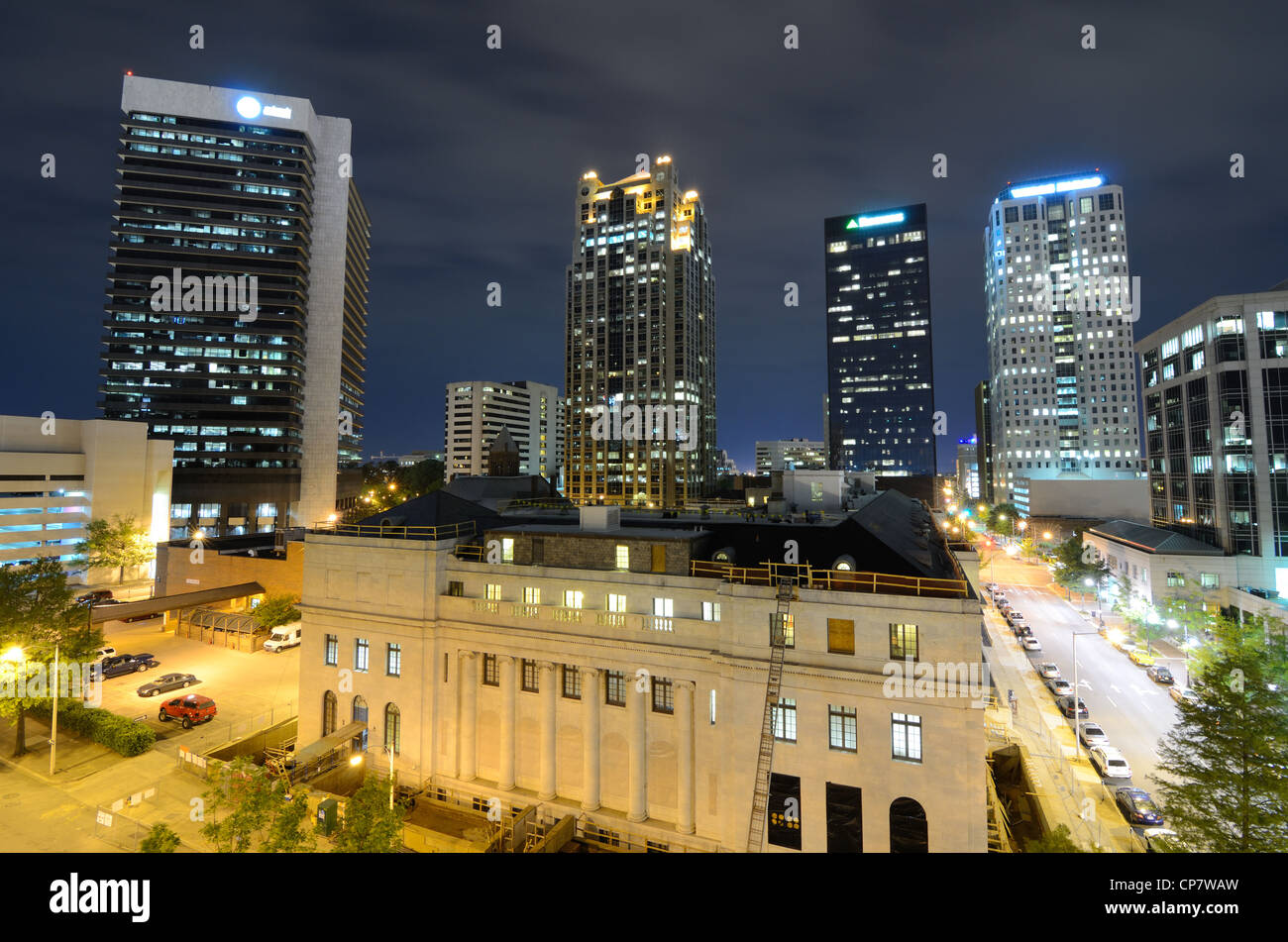 Metropolitan Skyline of downtown Birmingham, Alabama, USA. - Stock Image
