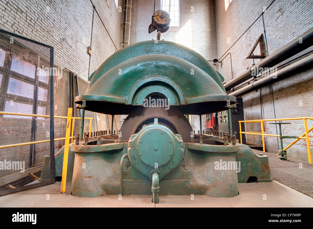 old machinery in a steel mill - Stock Image