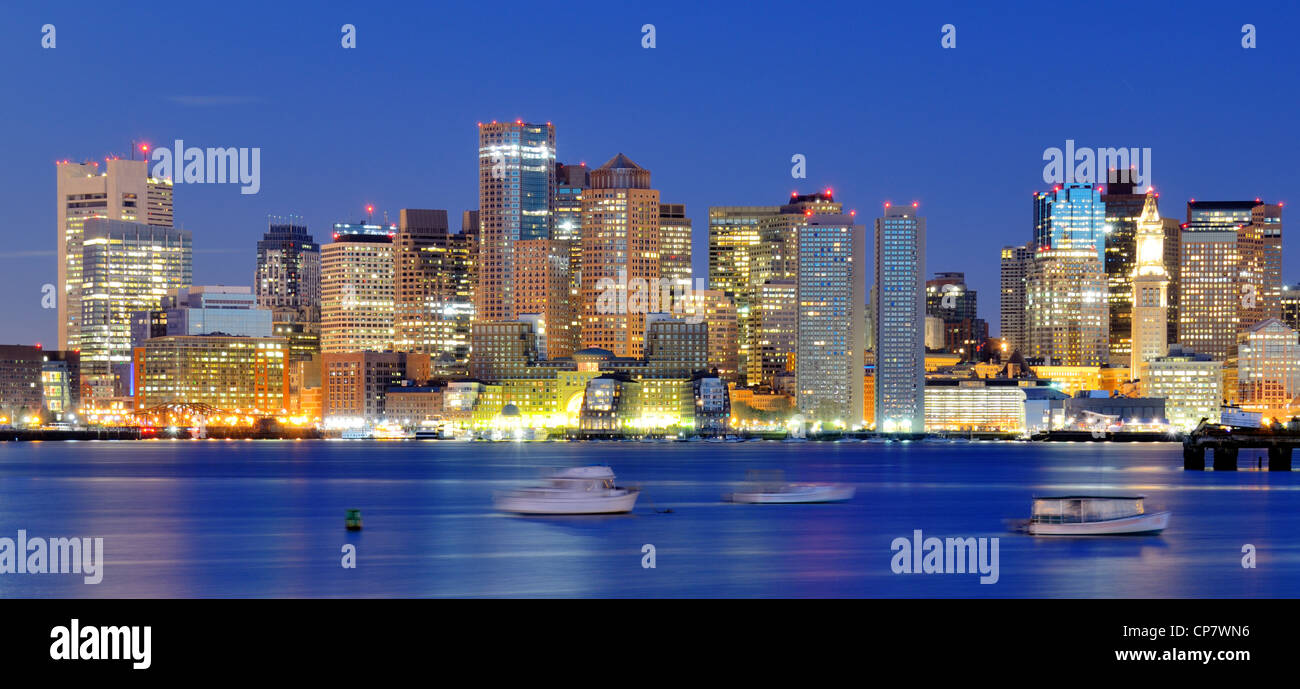 Downtown Financial District of Boston, Massachusetts, USA. - Stock Image