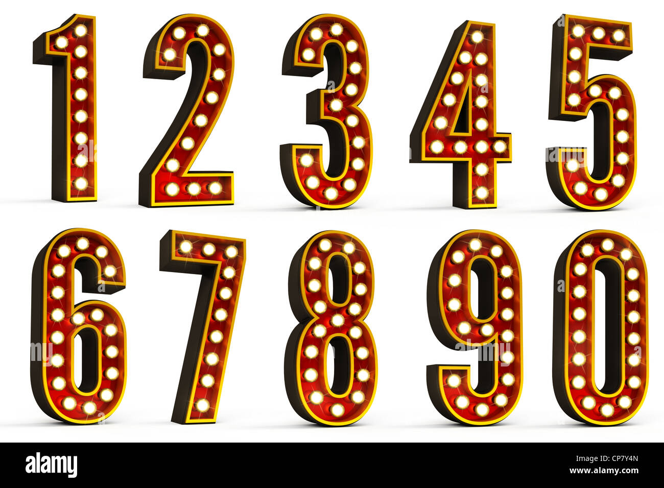 Set of all ten numbers - Stock Image