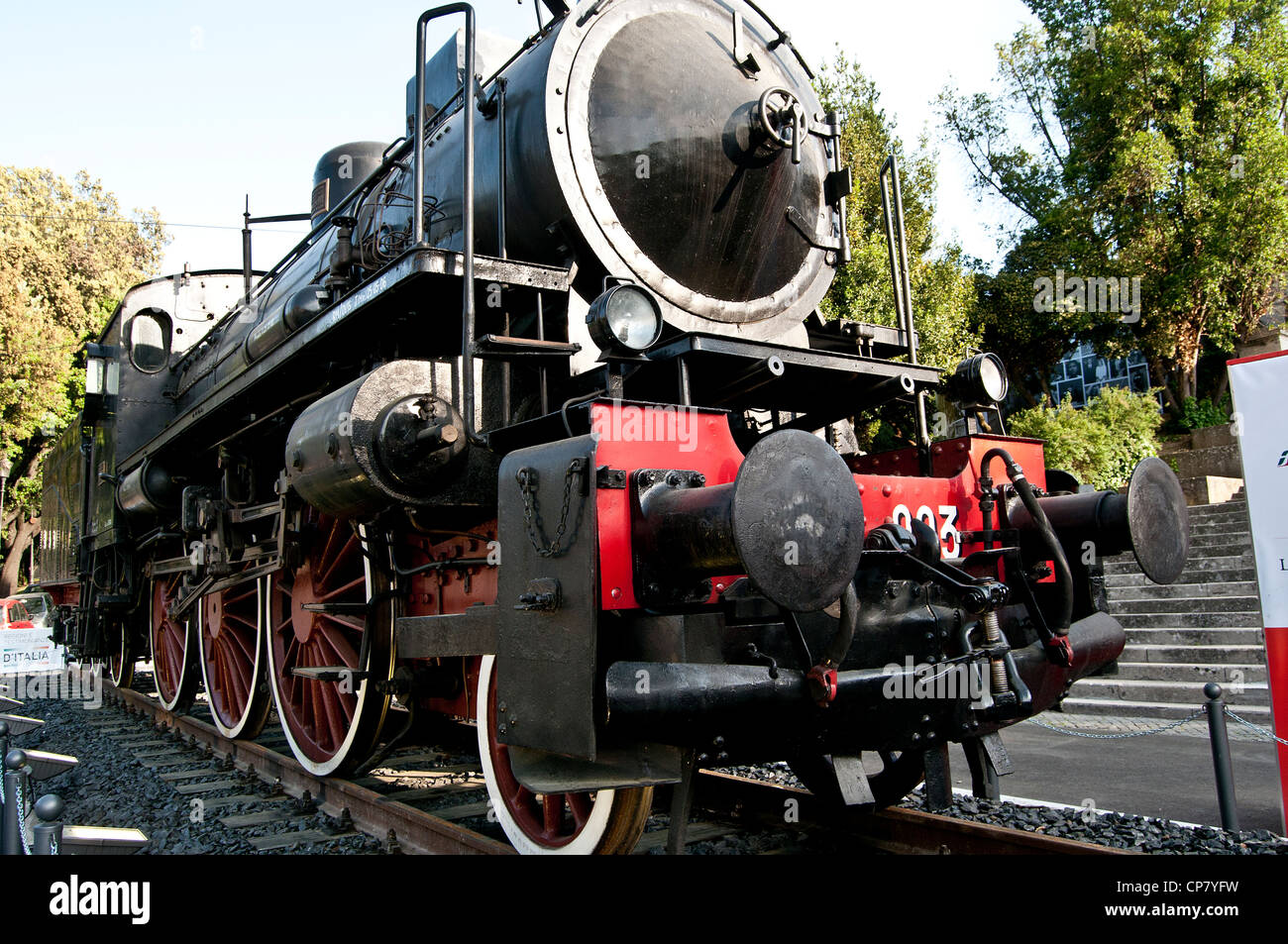 Vintage steam locomotive - Stock Image