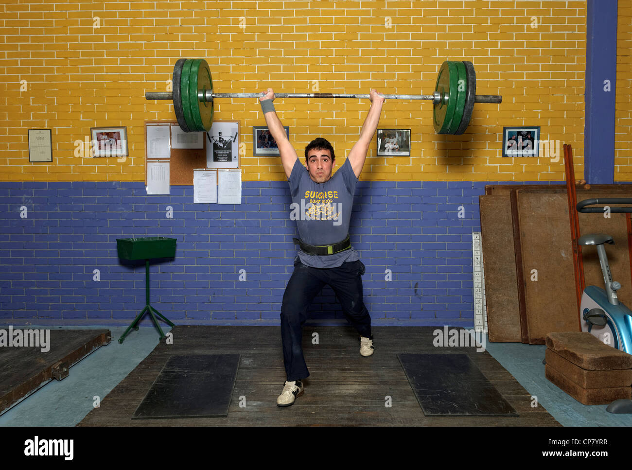 Weightlifting training - Stock Image