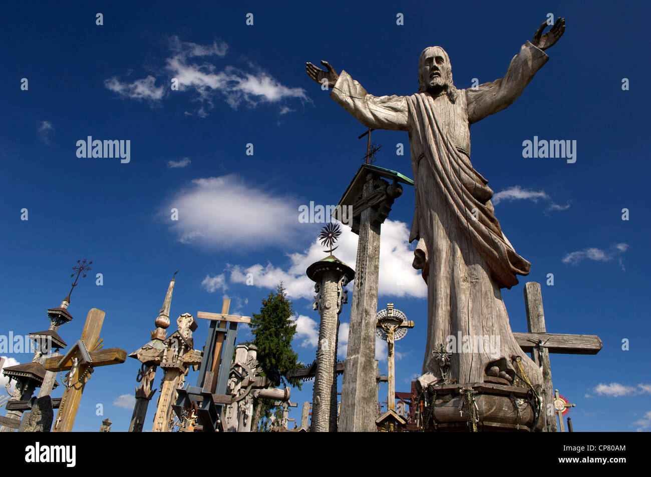 Hill of Crosses Pilgrimage site, Siauriai, Lithuania, Baltic States - Stock Image