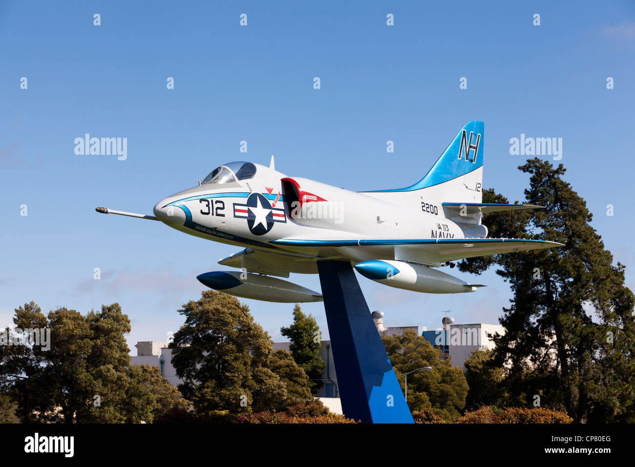 A4 Fighter Jet mounted display - Stock Image