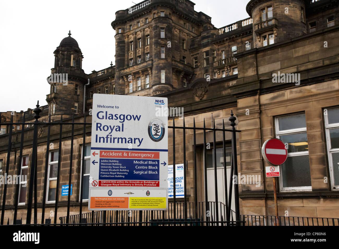 Glasgow Royal Infirmary NHS teaching hospital Scotland UK - Stock Image