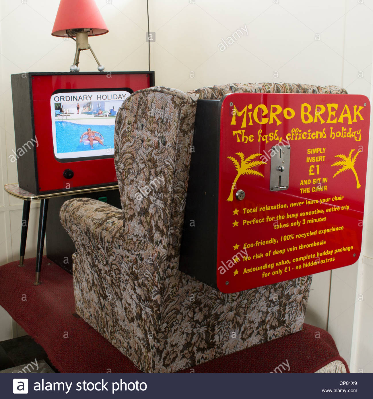 Unusual coin operated machine in a unique arcade on the Southwold pier in Suffolk - Stock Image