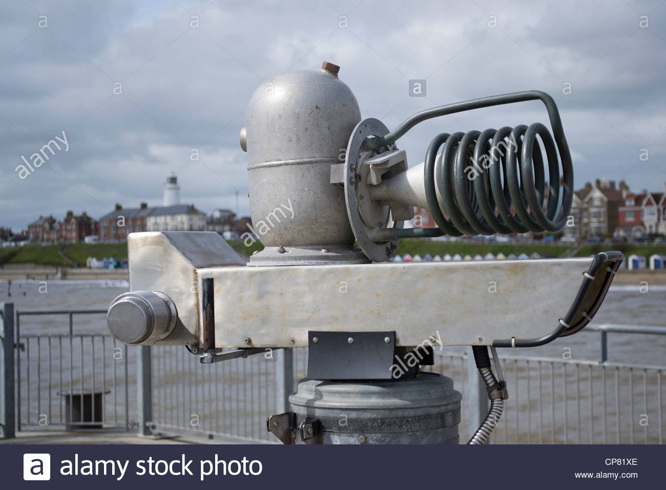 The quantum tunnelling telescope on Southwold pier, Suffolk - Stock Image