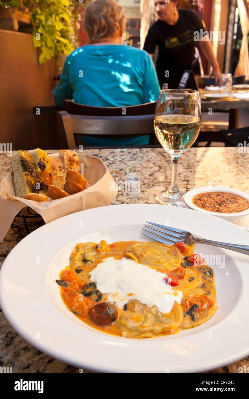 Chicken Ravioli Cafe Fiore Ventura California United States Of