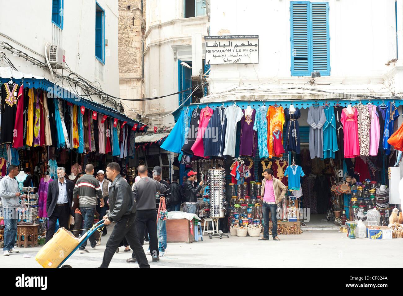 Tunis Tunisia Street Scene At The Place De La Victoire
