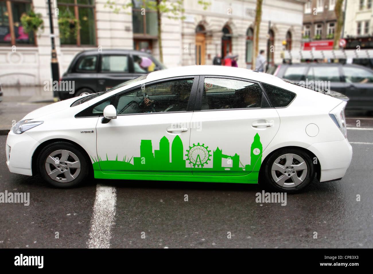 Toyota Prius minicab, London, UK - Stock Image