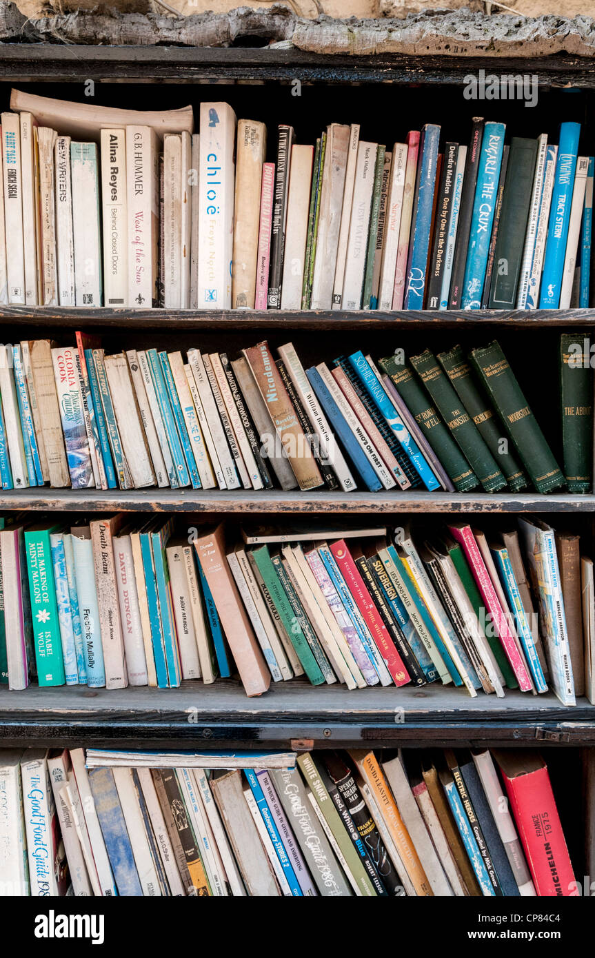 Secondhand books in bookshop - Stock Image