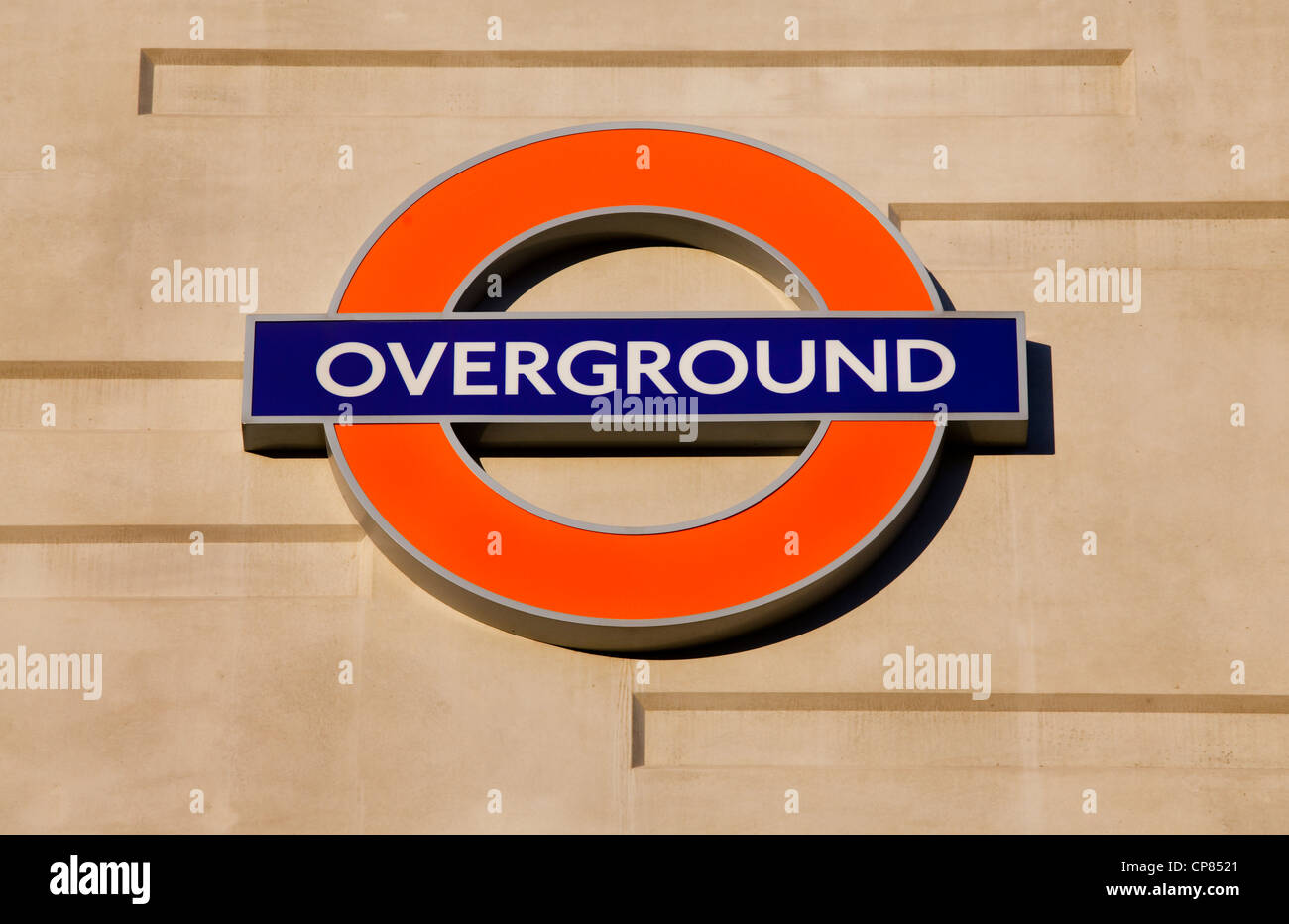 London transport Overground Sign - Stock Image