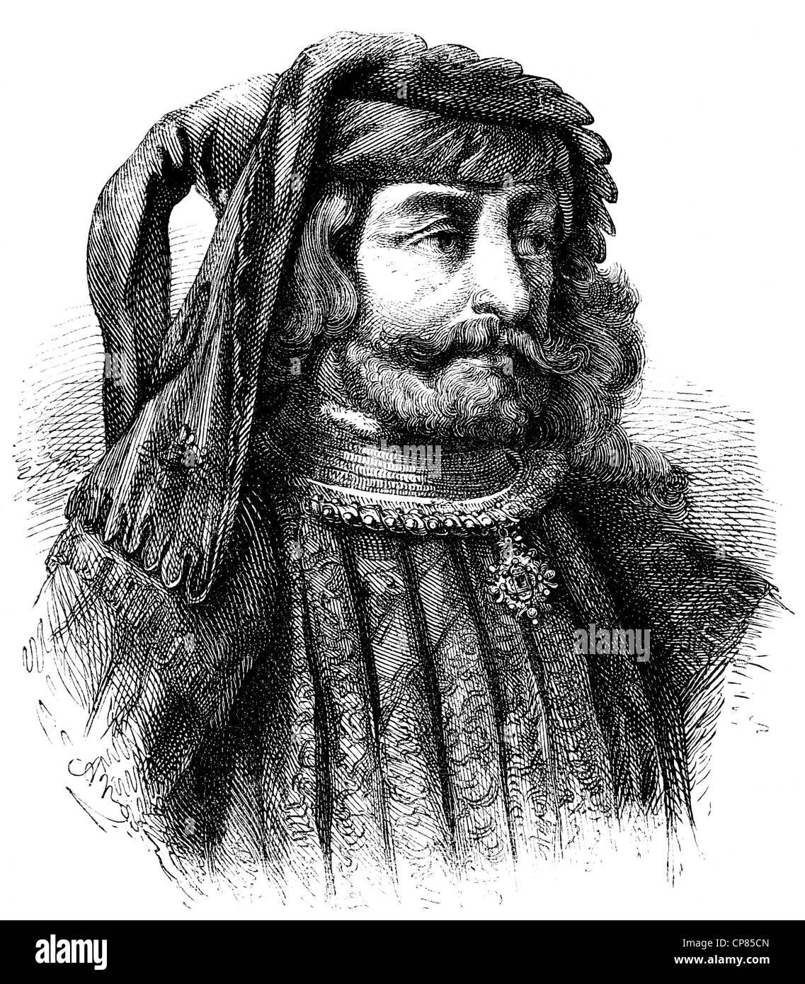 John IV of Brabant, 1403 - 1427, Duke of Brabant and Limburg and Lothier Count of Hainaut, Holland and Zealand, - Stock Image