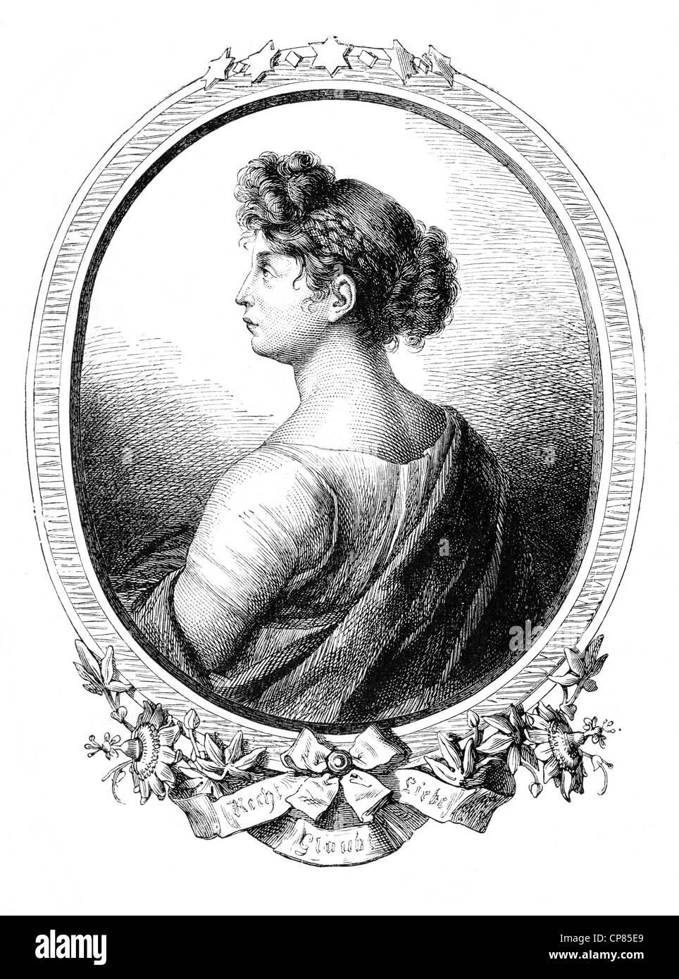 Louise of Mecklenburg-Strelitz, 1776–181, queen consort of Prussia, Prinzessin Viktoria Luise Adelheid Mathilde - Stock Image