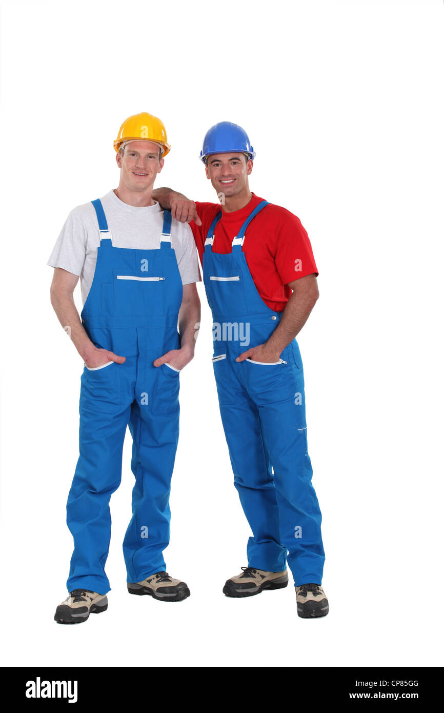 Couple of workers - Stock Image