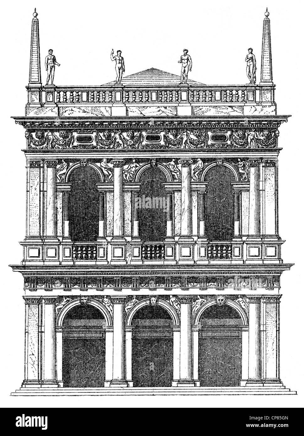 Biblioteca Marciana, Marciana Library, Library of San Marco, Libreria Marciana, Biblioteca Nazionale Marciana, Libreria - Stock Image