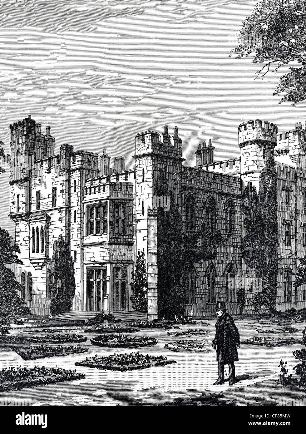 New Hawarden Castle, Hawarden, Flintshire, Wales, England, the estate of former British Prime Minister William Ewart Stock Photo