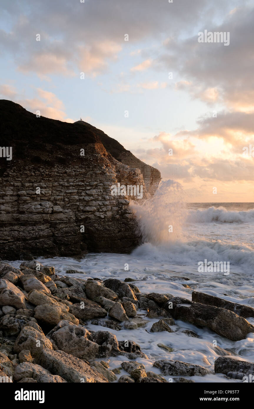Thornwick  Bay  Yorkshire Coast England. Stock Photo