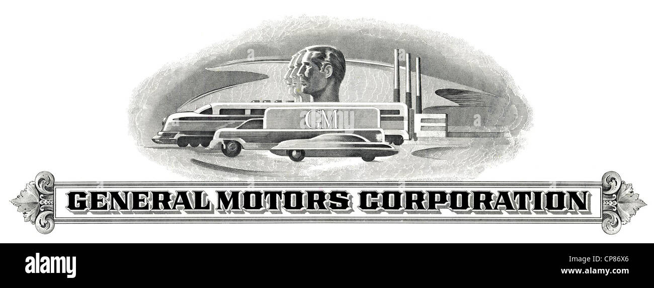 Historic Share Certificate General Motors Corporation Gm Car