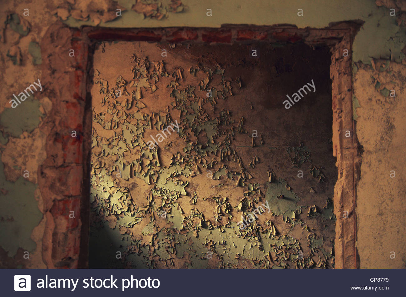 Peeling Paint (former Red Army garrison town) Stock Photo
