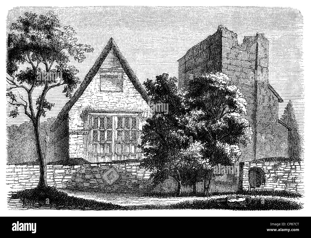 The home of Lady Jane Grey, 1536 - 1554, briefly Queen of England, nicknamed Nine Days Queen or Queen of thirteen - Stock Image