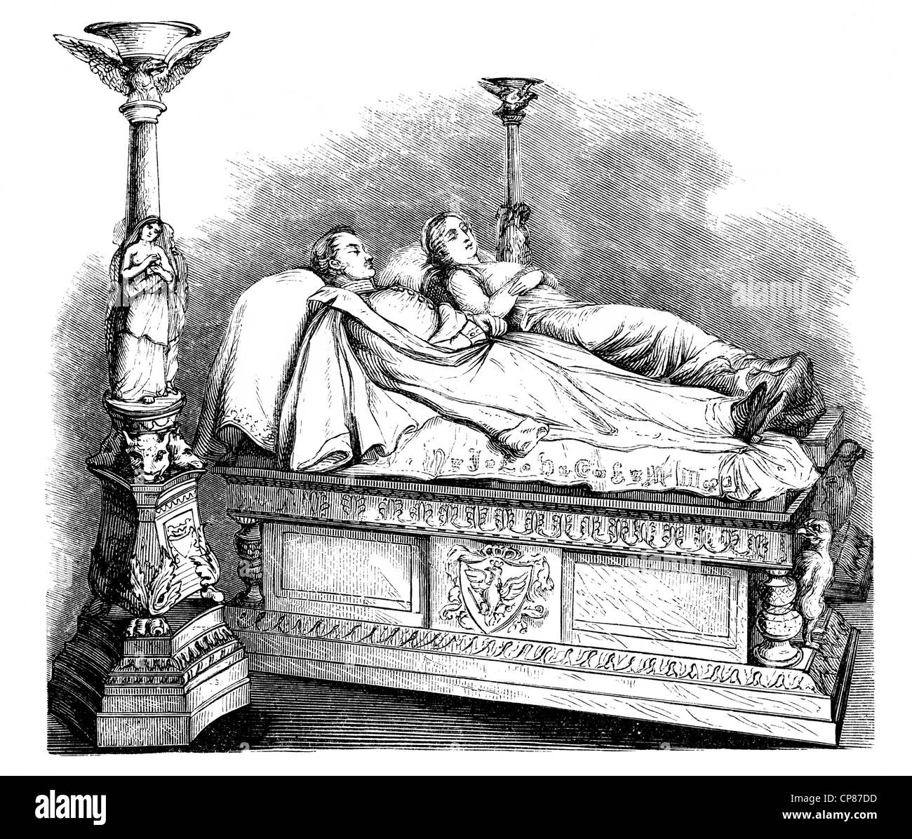 The tomb of Louise of Mecklenburg-Strelitz, 1776–181, queen consort of Prussia and King Friedrich Wilhelm III, 1770 Stock Photo